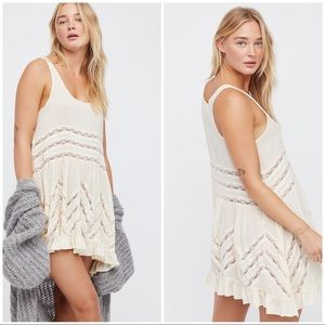 NWT Free People Voile & Lace Trapeze Slip Dress M